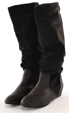 Womens Boots Black Size 10 By Michael Antonio Nellie Slouchy Knee High Pull  On #MichaelAntonio