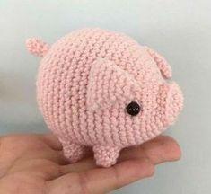 Crochet Pattern Free, Crochet Elephant Pattern, Crochet Animal Patterns, Stuffed Animal Patterns, Crochet Patterns Amigurumi, Crochet Animals, Cat Amigurumi, Crochet Easter, Crochet Pig