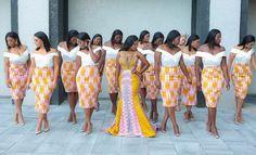 African Bridesmaid Dresses, African Wedding Attire, African Attire, African Dress, African Traditional Wedding Dress, Traditional Wedding Attire, Latest African Fashion Dresses, African Print Fashion, Kente Dress