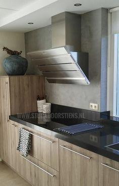 #keuken #betoncire #beal #mortex www.stucadoorstiens.nl