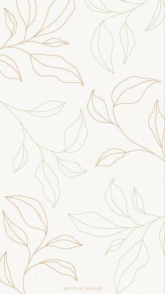 Flower Background Wallpaper, Flower Backgrounds, Wallpaper Backgrounds, Leaves Wallpaper, Aesthetic Iphone Wallpaper, Aesthetic Wallpapers, Minimalist Wallpaper, Cute Patterns Wallpaper, Pretty Wallpapers