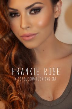 Gorgeous makeup tutorial by Kissable Complexions. Wearing all makeup by Frankie Rose Cosmetics! FrankieRoseCosmetics.com