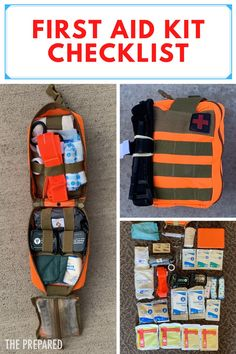 A first aid kit checklist assembled by medical experts with 180 years of experience. The best first aid kits are made, not bought in a single package. #firstaidkit #firstaidkitchecklist First Aid Kit Checklist, Survival First Aid Kit, Camping First Aid Kit, Survival School, Survival Stuff, Survival Skills, Girl Scout Swap, Girl Scouts, First Aid For Kids