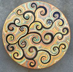 Lazy Susan Turntable 17 1/2 round Hand by BlocksFromTheHeart