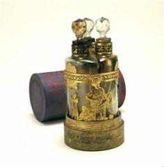 1910 Chas Faye Three Perfume Bottle Set