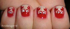 Crab nail art. #polishsquirrel              thepolishsquirrel                                          Day 18 – Half Moons – Crabs