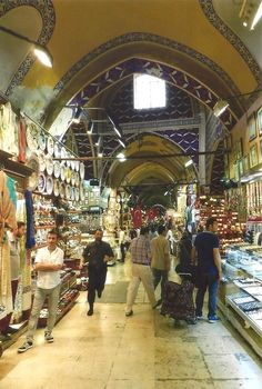 Grand Bazaar, Istanbul, Turkey. The VERY aggressive salesmen were fairly terrifying!