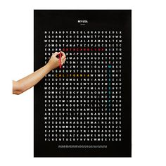 Look what I found at UncommonGoods: USA Word Search Travel Poster for $26.00
