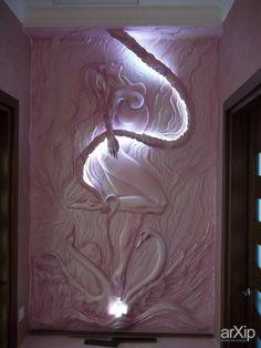 Барельеф.: интерьер, скульптура, квартира, дом, гостиная, современный…