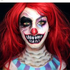 Awsome Halloween Makeup Makeup by @dolly.phin