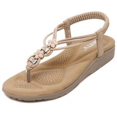 SIKETU 2017 New Summer Style Sandals Bling Rhinestone Flats Women Platform Wedges Sandals Metal Diamond Trade Large Size Shoes