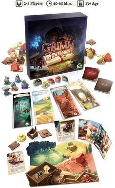 Can you outwit your friends, avoid foul creatures, and build 3 houses before anyone else?  2-4 player board game, 40-60 minutes