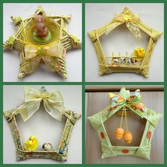 20 Ideas for Easter to be made with paper straws. Newspaper and magazine recycling. Ester Crafts, Paper Ornaments, Christmas Ornaments, Diy And Crafts, Crafts For Kids, Magazine Crafts, Ideas Magazine, Newspaper Crafts, Newspaper Paper