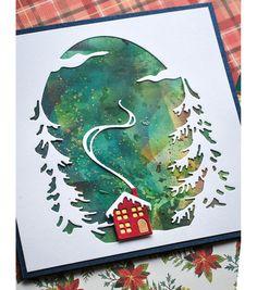 Frame Crafts, Metal Crafts, Paper Crafts, Memory Box Cards, Memory Box Dies, Memories Box, Card Making Inspiration, Christmas Inspiration, Little Christmas