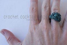 Crochet Cocktail Rings