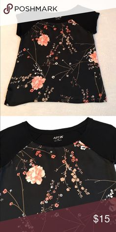 Apt 9 floral top Excellent condition. Bust measures 17 inches and length is 22 1/2 inches Apt. 9 Tops Tees - Short Sleeve