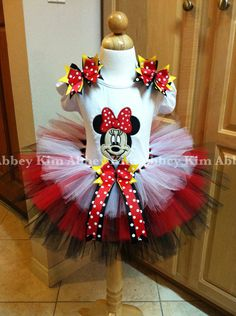 Minnie mouse tutu set  by Abbeykim1 on Etsy, $50.00