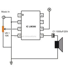 Are you looking for a small audio amplifier circuit that's not only cheap but also easy to assemble and can be done quickly? The idea presented here suits the need perfectly. It uses the IC LM386 which can be configured quickly by connecting just a couple of external components. The output power is not more than 1.25 watts which is reasonably powerful for low power applications as in door bells, FM radios, MP3 players, intercoms, etc. The amplifier is accompanied with some impressing…