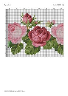 Cross Stitch Rose, Cross Stitch Flowers, Cross Stitch Charts, Cross Stitch Embroidery, Cross Stitch Patterns, Small Flowers, Diy Flowers, Hand Embroidery Designs, Rug Hooking