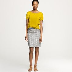 Love the whole outfit, but that skirt has me envious #jcrew