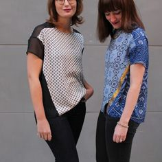 k and l geometry top, love the fabric choices