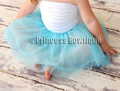 Ocean Blue Turquoise Ballet TUTU for Babies and Toddler