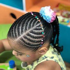 Black Kids Braids Hairstyles, Baby Girl Hairstyles, Natural Hairstyles For Kids, Kids Braided Hairstyles, African Hairstyles, Cool Hairstyles, Natural Hair Styles, Girl Hair Dos, Feed In Braid