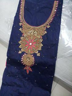 b4d3128775 Modal Chanderi Cotton With Khatli Hand Work Dress Material (6 Pc Set) Silk  Dress