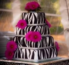 Fuschia Zebra Print Cake
