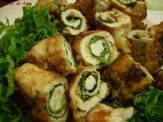 Receita Entrada : Rolinhos de filé de frango com missô e erva shiso de Valeriaharue