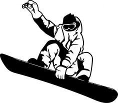 Картинки по запросу сноубордист силуэт