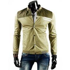 Přechodné pánské větrovky zelené barvy a krátkého střihu bez kapuce - manozo.cz Nasa, Leather Jacket, Jackets, Fashion, Manish, Studded Leather Jacket, Moda, Fashion Styles, Leather Jackets