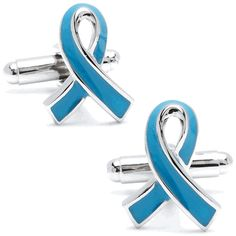 "It says ""Prostate Cancer Ribbon"" Cufflinks but that looks like the Huntington's ribbon to me- Medical Cufflinks by Cufflinksman"
