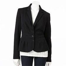 Elle Black Pleated Jacket Blazer Work Career 4 Nwt Pleated Jacket Jackets Jackets For Women