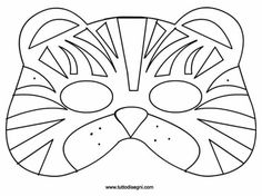 Carnival mask for print and color - milena Diy Carnival, Carnival Rides, Carnival Food, Paper Face Mask, Tiger Mask, Printable Masks, Felt Mask, Mask Template, Animal Masks