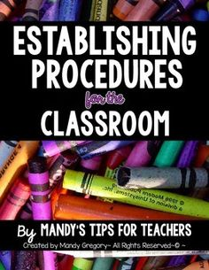 FREE checklist of Procedures for Back to School