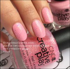 CND Creative Play Pinkle Twinkle over Bubba Glam