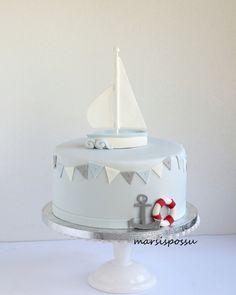 pastel de bautizo náutica