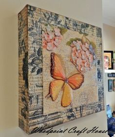 Wood painting, Hand made, Decoupage,