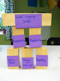 Lesson on the BUilding Blocks of Friendship