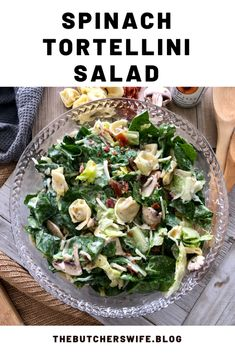 Spinach Tortellini Salad is light, fresh and perfect for any occasion. This salad is easy to make and is always a crowd pleaser. Healthy Menu, Healthy Side Dishes, Healthy Recipes, Spinach Tortellini, Tortellini Recipes, Poppyseed Salad Dressing, Fast Easy Meals, Spinach Salad