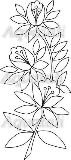Flower Pattern Drawing, Flower Pattern Design, Embroidery Flowers Pattern, Embroidery Hoop Art, Hand Embroidery Designs, Applique Designs, Floral Embroidery, Flower Patterns, Flower Designs