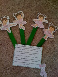 Free Little Ballerina Stick Puppets