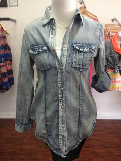 lightweight denim shirt by JHaus. I want one so bad!!