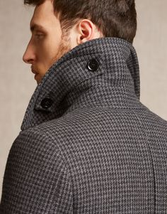 Milford Coat - Black/Charcoal Wool