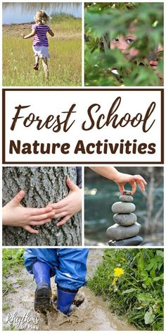 Outdoor learning ideas and nature activities for kids of all ages. Child-led and loosely structured nature activities, nature crafts, and nature study ideas for nature school preschool, forest school kindergarten and beyond! Forest School Activities, Nature Activities, Outdoor Activities For Kids, Outdoor Learning, Kindergarten Activities, Toddler Activities, Learning Activities, Kids Learning, Camping Activities