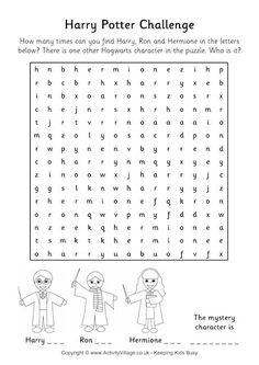 harry potter crosswords for England culture unit