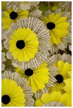 Eco-Friendly Easter Decor Ideas From David Stark Handmade Flowers, Diy Flowers, Fabric Flowers, Flower Paper, Paper Daisy, Book Flowers, Spring Flowers, Flower Art, Diy Paper