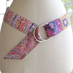 Liberty Fabric Belt, Picadilly Punch