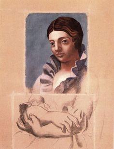 Pablo Picasso portrait of Olga
